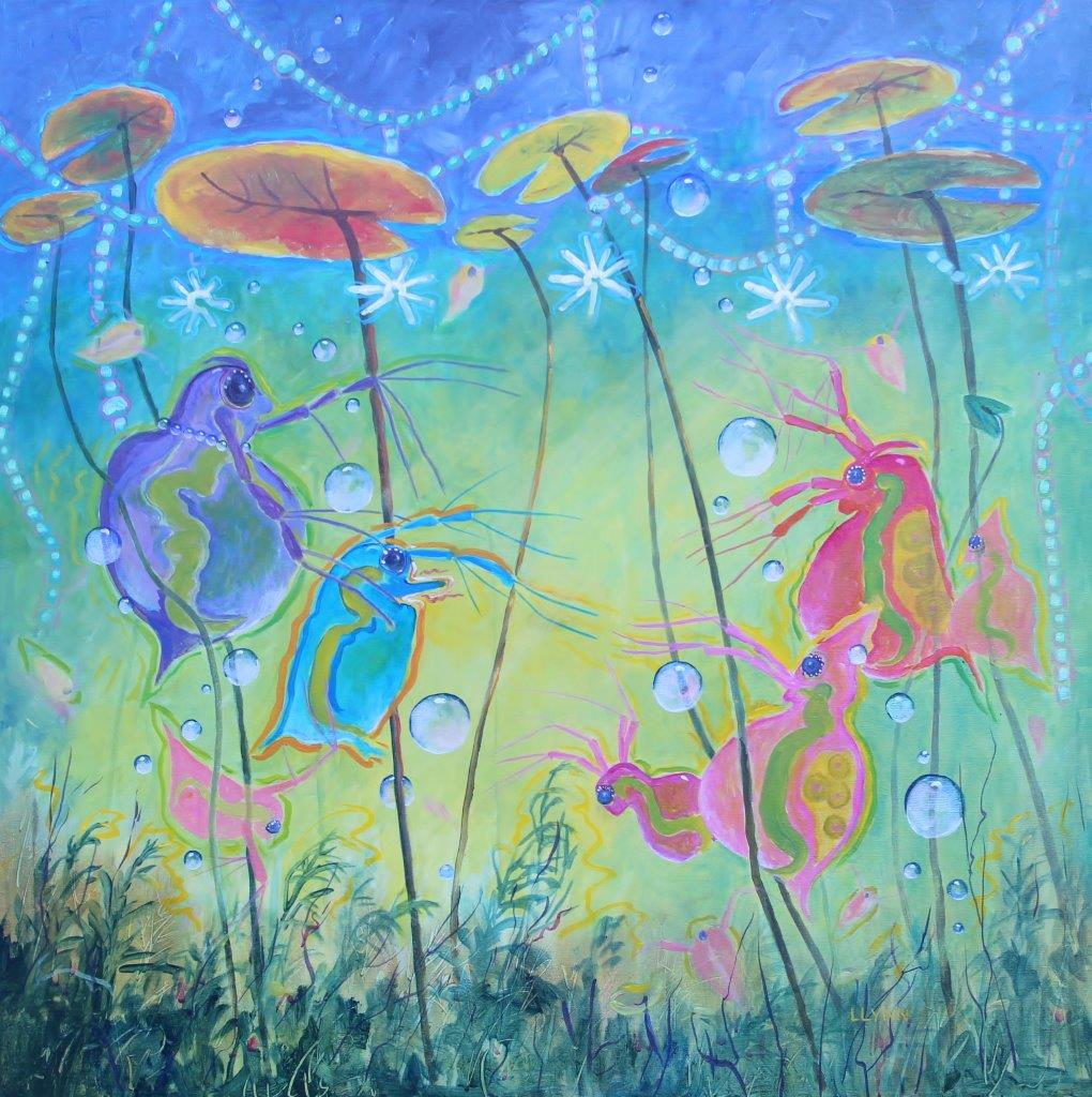 15579 Daphnia's Prom Party 36x36 Acrylic 21 Nov 15 - Copy